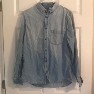 Men's H&M Divided Denim Long Sleeve Shirt